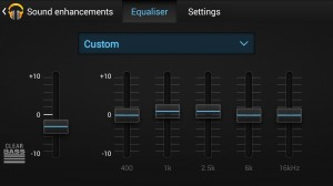 Acorn Audio E1 EQ settings