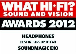 What Hi-Fi Award - Best in ear headphones up to £40