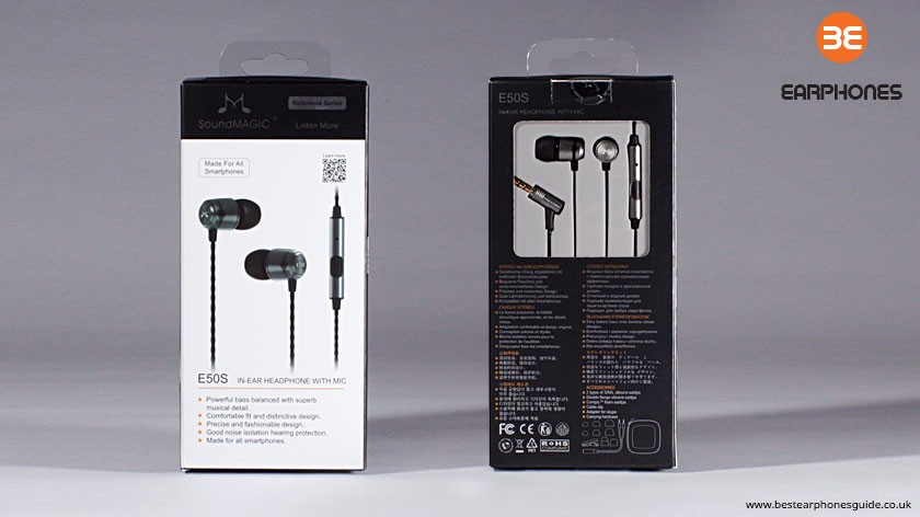 SoundMAGIC E50 Earphones Packaging