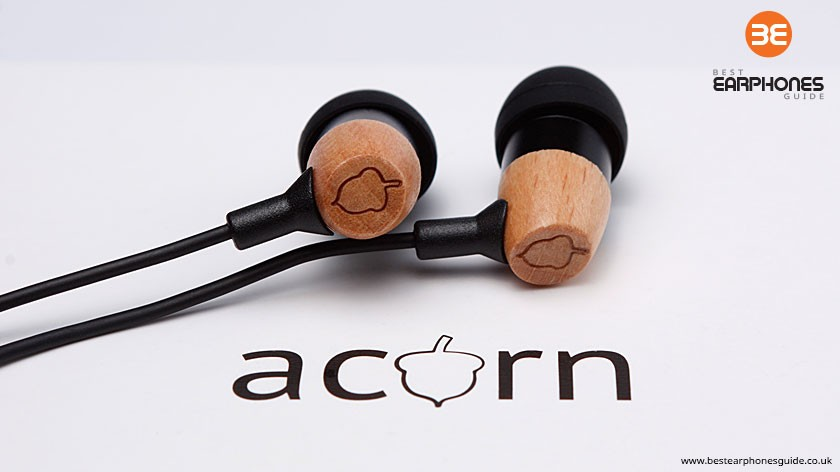 Acorn E1 In Ear Headphones and Logo