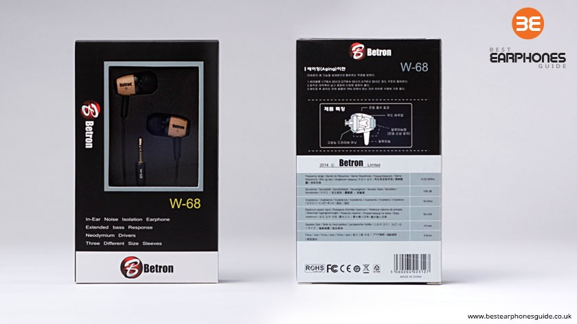 Betron W-68 Earphones Packaging