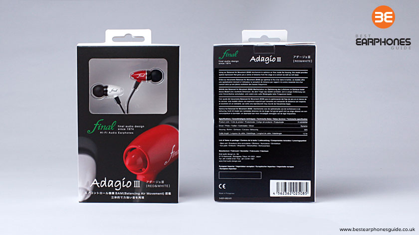 Final Audio Adagio III packaging