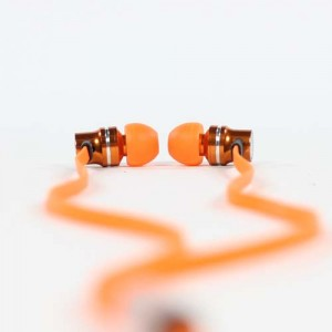 Pump Audio Orange Earphones