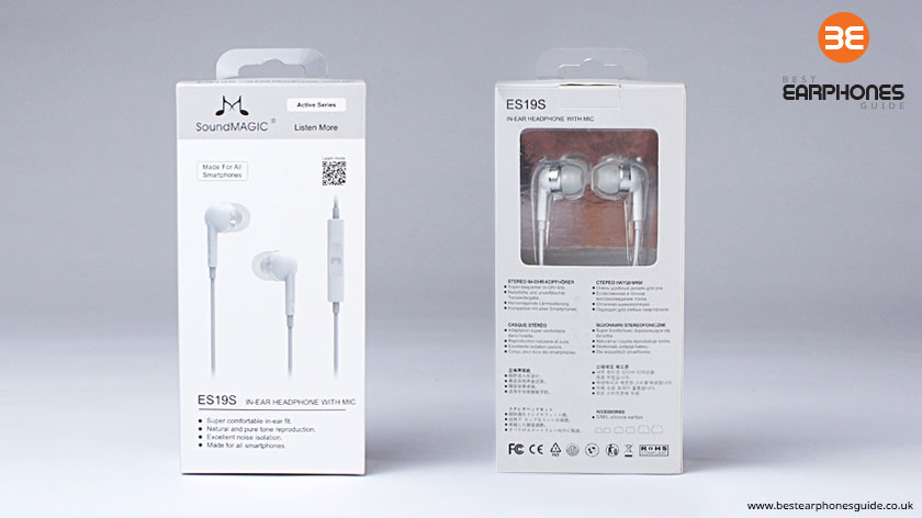 SoundMAGIC E19S In Ear Headphones - Packaging